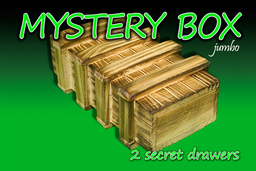 Mystery Box with Two Secret Drawers