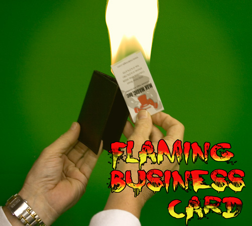 Flaming Business Card from Wallet Leathercraft