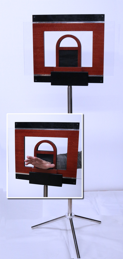 Hand Through Glass with Stand
