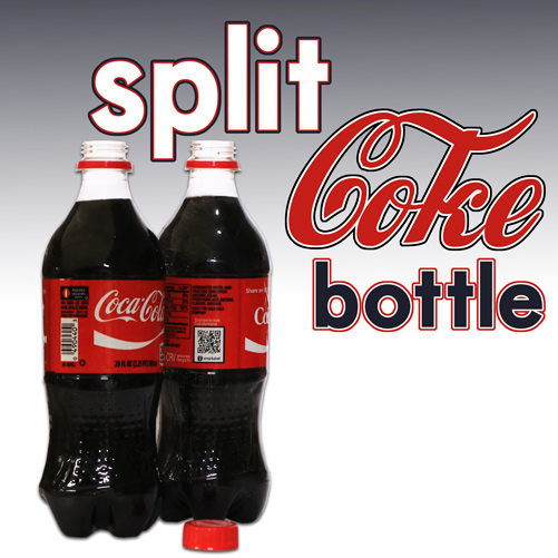 Split Coke Bottle Plastic 20oz