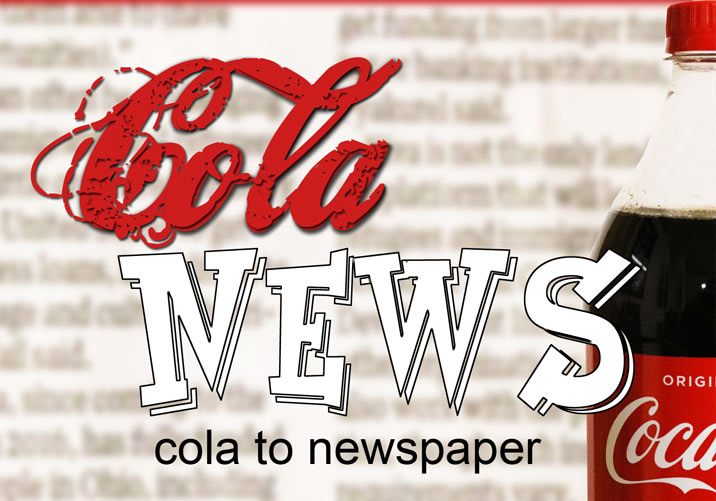 Cola News Cola in Newspaper