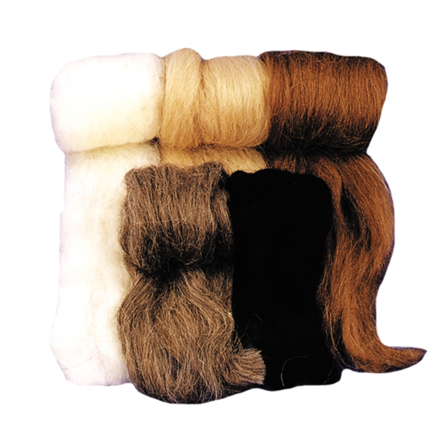 WOOL FIBER BROWN