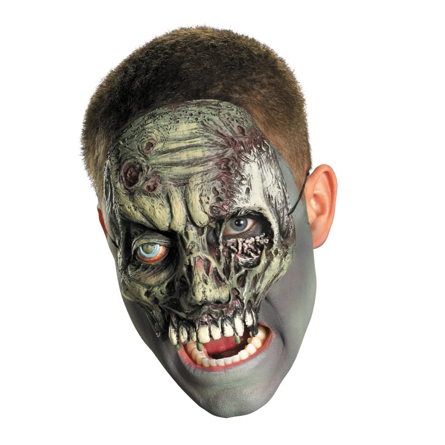 CHINLESS WALKING ZOMBIE MASK