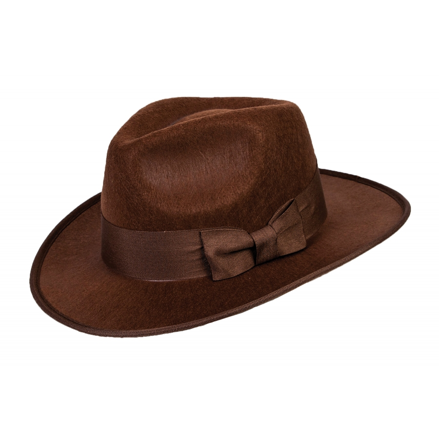 BROWN 40S FEDORA ADULT