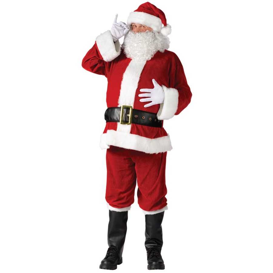 SANTA SUIT COMPLET VELOUR PLUS
