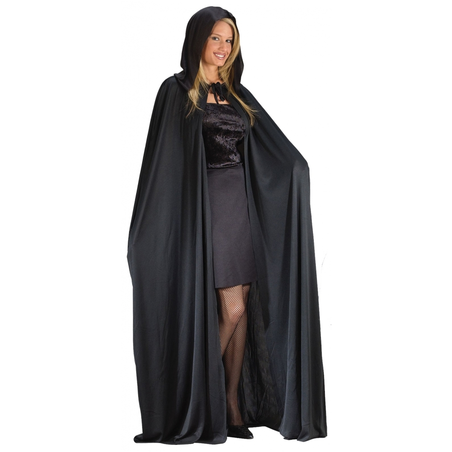 CAPE 68 INCH HOODED BLACK
