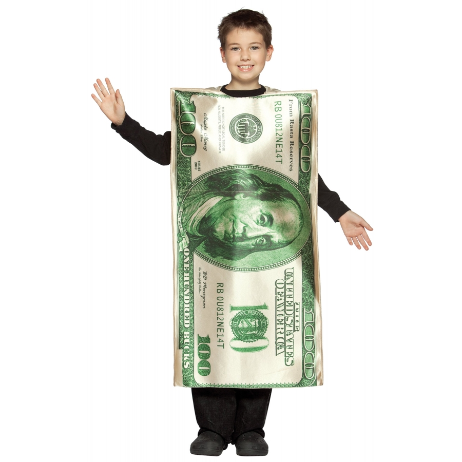 $100 DOLLAR BILL CHILD 7 10