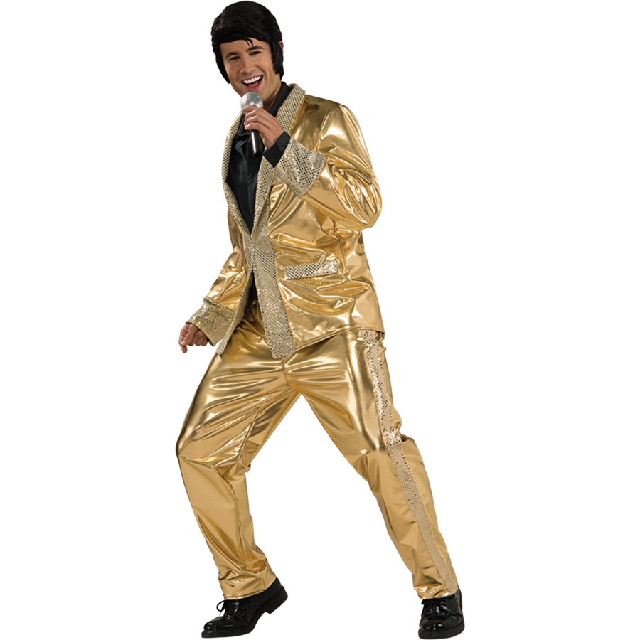 ELVIS GOLD LAME SUIT GRAND HERITAGE LARGE