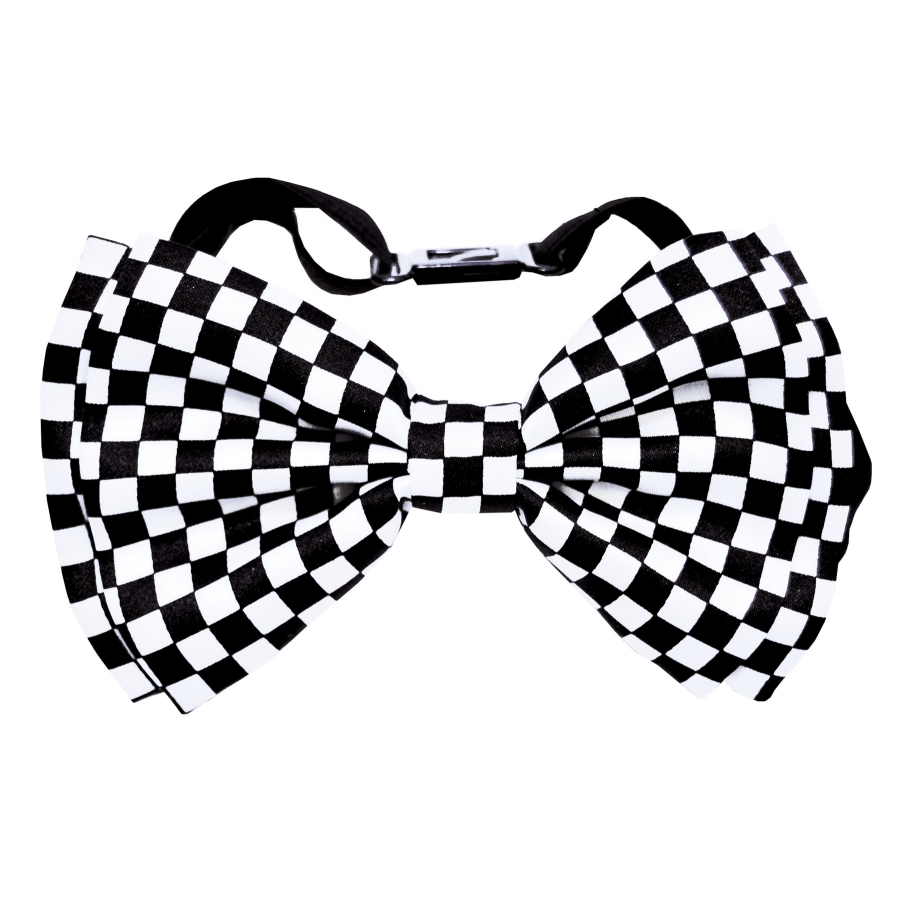 BOW TIE WHITEBLACK CHECK