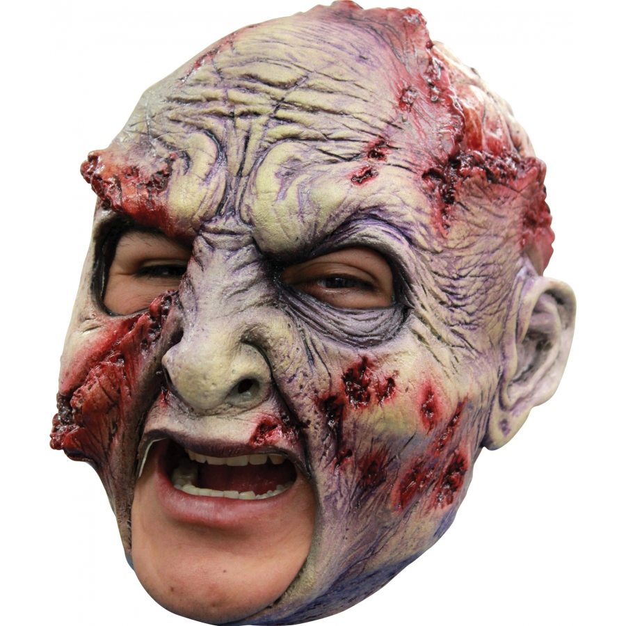 ROTTED CHINLESS LATEX MASK