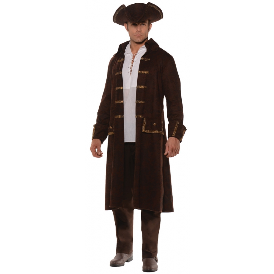 PIRATE COAT SET AD BROWN STD