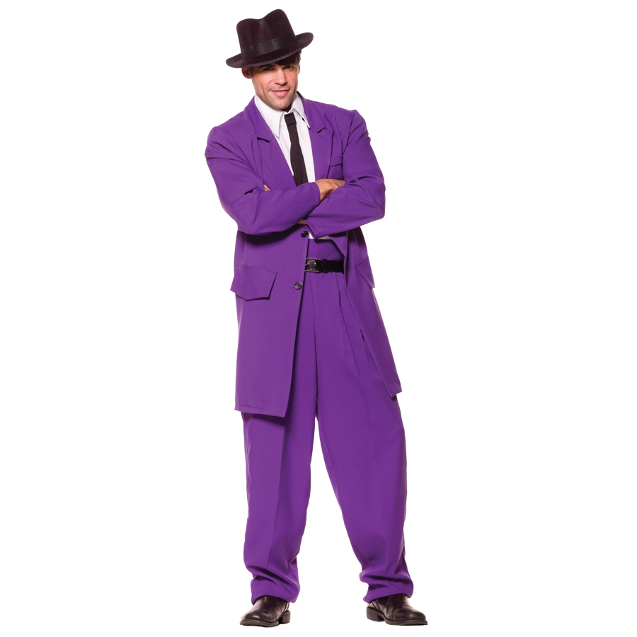 ZOOT SUIT ADULT PURPLE STD