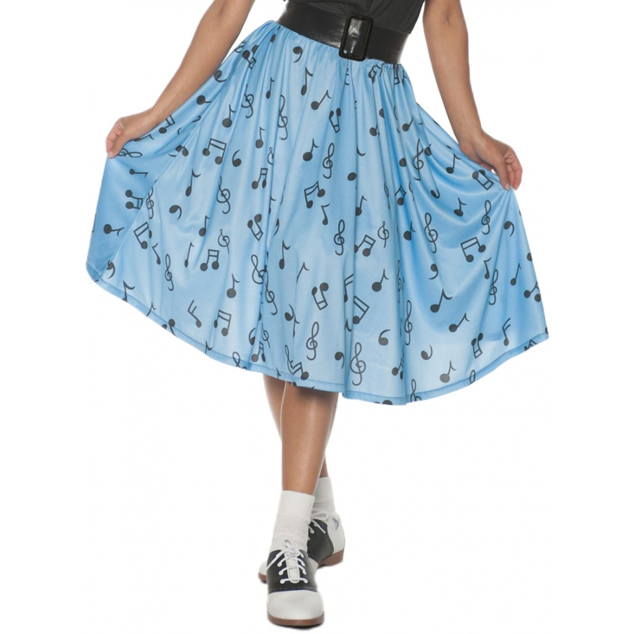 50S MUSICAL NOTE SKIRT AD XL