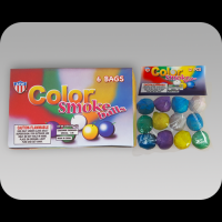 Assorted Color Smoke Balls - Bag of 6