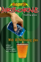 Airborne Magnetic Bud Light with Ultra Glass