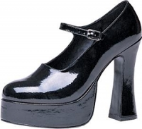 Mary Jane Black Platform Shoes Size 8