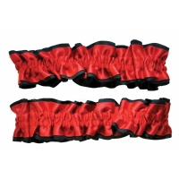 ARMBAND GARTERS RED BLACK PR