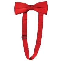 BOW TIE SATIN BAND RED