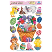 EASTER BASKET FRIENDS CLINGS