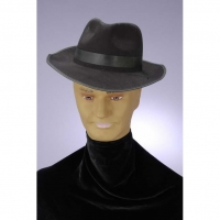 GANGSTER HAT BLACK FLOCKED