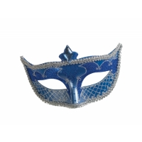 CARNIVAL MASK NO FEATHER BLUE