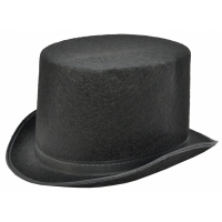 TOP HAT BLACK FELT LARGE