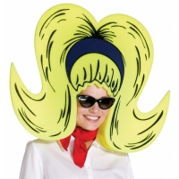YELLOW BOUFFANT FOAM WIG GIANT