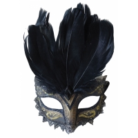 CARNIVALE EYE MASK BLACK GOLD