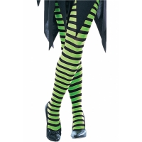 GREEN BLACK STRIP TIGHTS CH MD