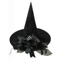 WITCH HAT WBLACK FLOWER