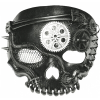STEAM PUNK MASK NO JAW SKELETO