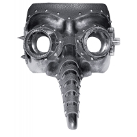STEAM PUNK MASK LONG NOSE BLAC