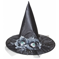 WITCH HAT WFLOWERS EYES 17 IN