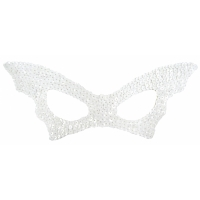 BAT MASK SEQUIN WHITE