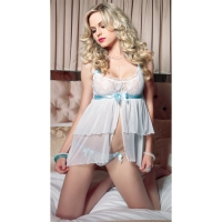 BABYDOLL & G STRING SET SHEER