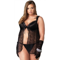 2 PC BABYDOLL W G STRING