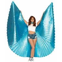 METALLIC PLEATED WINGS 360 DEG