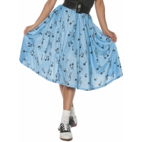 50S MUSICAL NOTE SKIRT AD LG