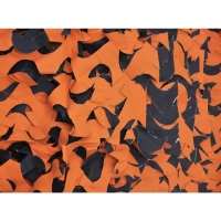 CAMO CRAZY 8 X 10 BLACK ORANGE