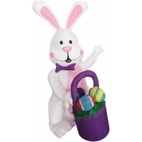INFLATE BUNNY 4FT W BASKET