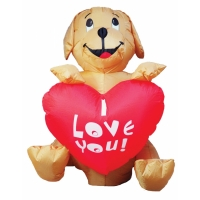 INFLATE DOG W HEART 4FT LED